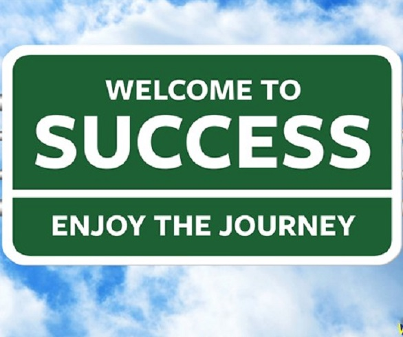 Welcome to Success. Highway Road Sign